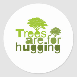 Trees are for  hugging 2 classic round sticker