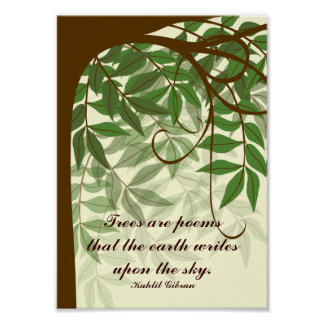 Trees Are Poems Quote Poster