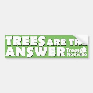Trees Are The Answer Bumper Sticker Car Bumper Sticker