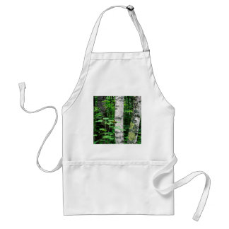Trees Aspen Trunks Quetico Ontario Canada Adult Apron