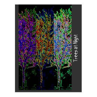 Trees at Night Postcard