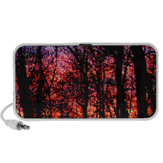 Trees at Sunset Doodle Speaker