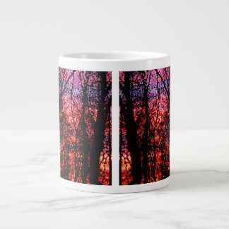 """Trees at Sunset"" Giant Coffee Mug"