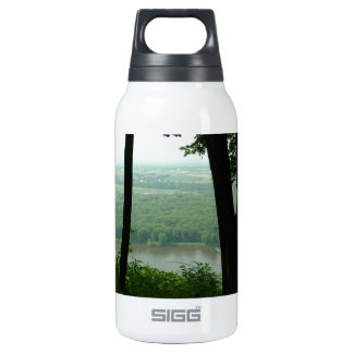 Trees at Wyalusing State Park - River Down Below Insulated Water Bottle