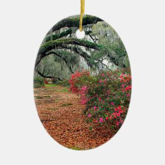 Trees Azaleas Oaks Magnolia Charleston Ceramic Ornament
