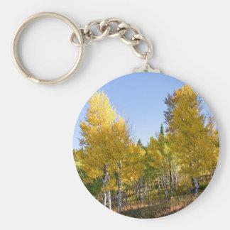 Trees Basic Round Button Keychain