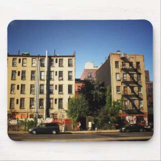 Trees Between Buildings, Alphabet City, NYC Mouse Pad