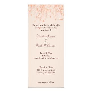 "Trees & Birds 4"" X 9.25"" Invitation Card"