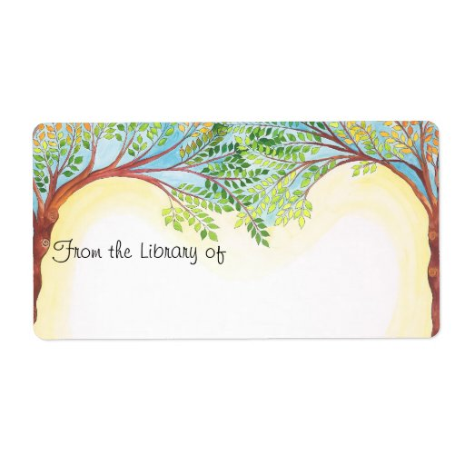 Trees Book plate Labels