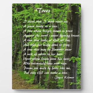 Trees by: Joyce Klimer Plaque