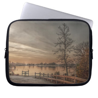 Trees by the Lake 2 Laptop Sleeve