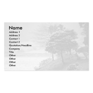 Trees by the lake business card template
