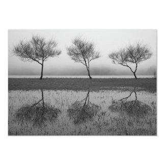 Trees by the lake card