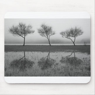 Trees by the lake mouse pad