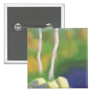 Trees by Water, Pinback Button