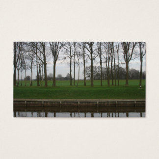 Trees, Canal, Dike and Meadow Photo Card