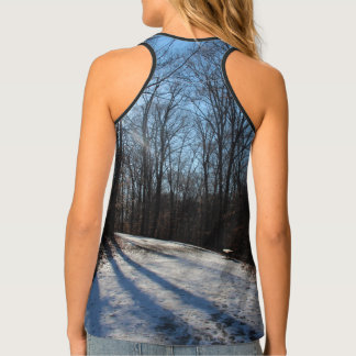 Trees Cast Long Shadows in Winter Tank Top
