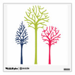 trees color red green blue mural wall decal