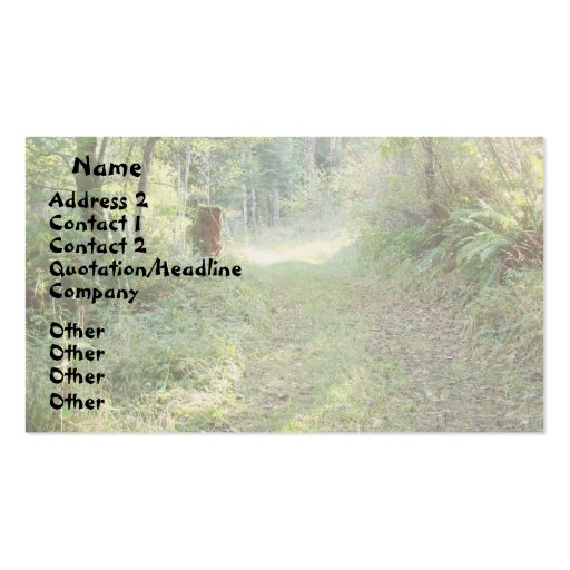 Trees & Country Road Business Card