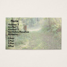 Trees & Country Road Business Card at Zazzle