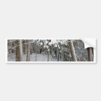 Trees covered in heavy snow bumper sticker