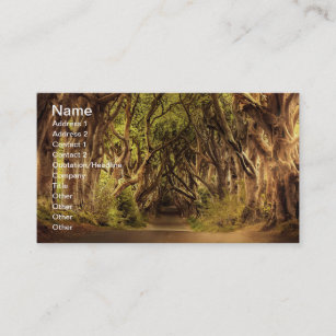 Ireland landscape business cards templates zazzle trees covering road in northern ireland business card reheart Images