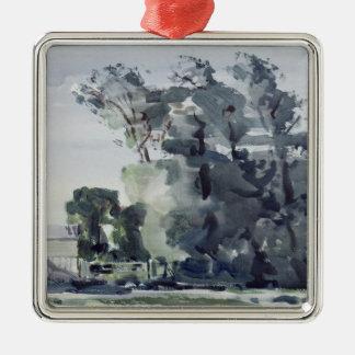 Trees - Dawn Metal Ornament
