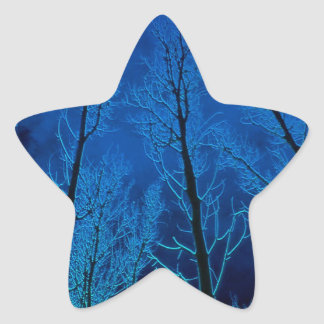 Trees Eerie Silence Star Sticker