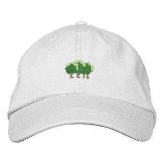 Trees Embroidered Baseball Hat