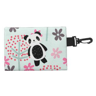 Trees, Flowers, and Panda Bears Accessories Bag