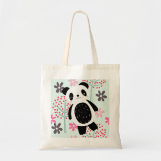 Trees, Flowers, and Panda Bears Budget Tote Bag