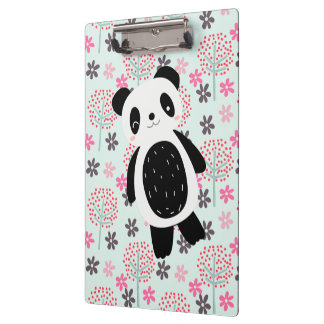 Trees, Flowers, and Panda Bears Clipboard
