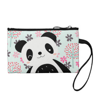 Trees, Flowers, and Panda Bears Coin Wallet