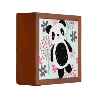Trees, Flowers, and Panda Bears Pencil Holder