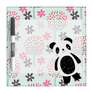 Trees, Flowers, and Panda Bears Dry-Erase Board