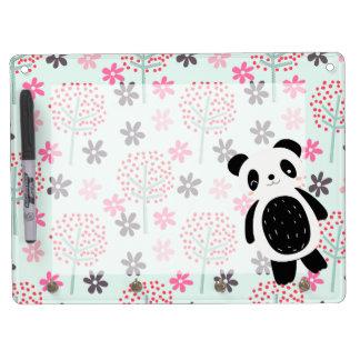 Trees, Flowers, and Panda Bears Dry-Erase Whiteboard