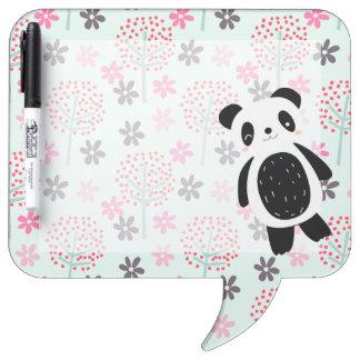 Trees, Flowers, and Panda Bears Dry Erase Whiteboard