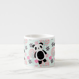 Trees, Flowers, and Panda Bears Espresso Cup