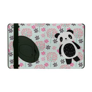 Trees, Flowers, and Panda Bears iPad Case