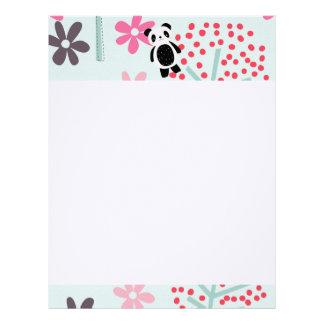 Trees, Flowers, and Panda Bears Letterhead