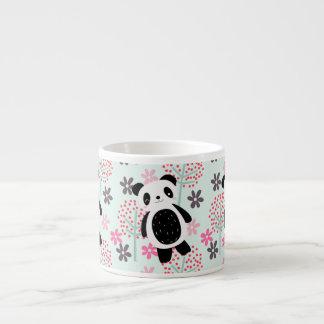 Trees, Flowers, and Panda Bears 6 Oz Ceramic Espresso Cup
