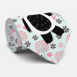 Trees, Flowers, and Panda Bears Tie