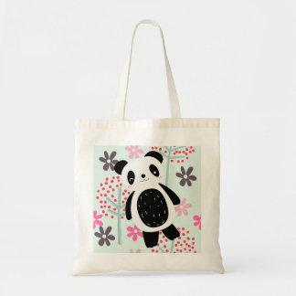 Trees, Flowers, and Panda Bears Tote Bag