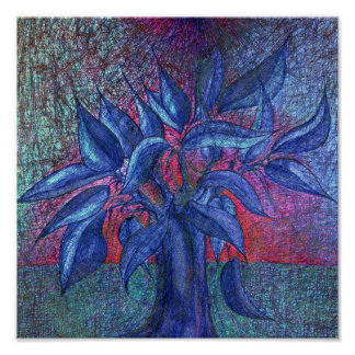 Trees Flowers Poster