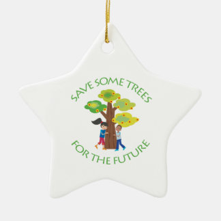 Trees for the Future Double-Sided Star Ceramic Christmas Ornament