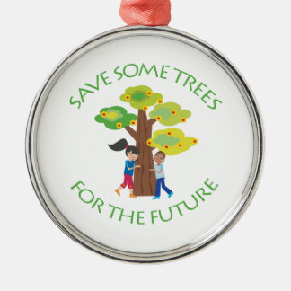 Trees for the Future Round Metal Christmas Ornament