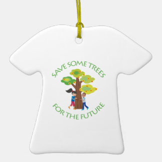 Trees for the Future Double-Sided T-Shirt Ceramic Christmas Ornament