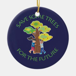 Trees for the Future Double-Sided Ceramic Round Christmas Ornament