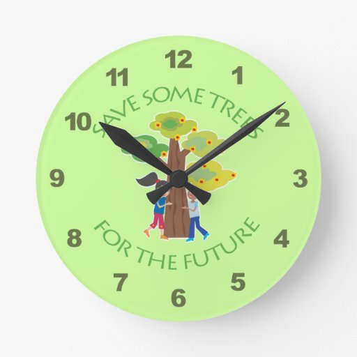 Trees for the Future Round Wall Clocks