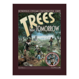 "Trees for Tomorrow poster (18x24"")"